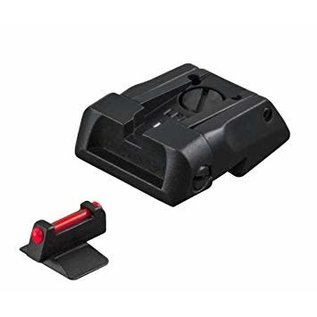 FUSION 1911 COLT STANDARD DOVETAIL FULLY ADJUSTABLE BLACK SIGHT SET WITH RED FIBER OPTIC CONTOUR FRONT