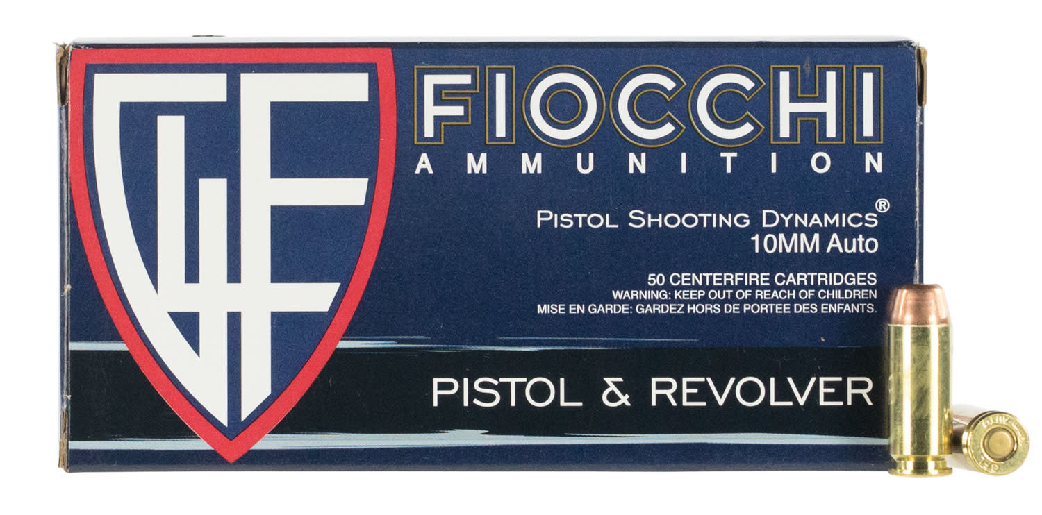 Fiocchi Ammunition Fiocchi 10mm 180 GR Full Metal Jacket 50 Bx