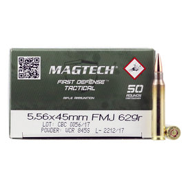 Magtech Magtech 5.56 NATO Ammunition 50 Rounds FMJ 62 Grains 556B