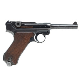 "Desirable World War II Nazi 1940 Dated Mauser Banner ""Eagle/L"" Police Luger Semi-Automatic Pistol with Matching Magazine"