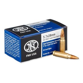 FNH FNH USA SS195LF 5.7x28mm 27 Grain JHP 50 Round Box