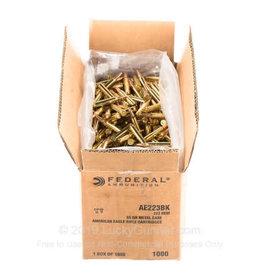 Federal 223 Rem - 55 Grain FMJBT - Federal American Eagle - 1000 Rounds
