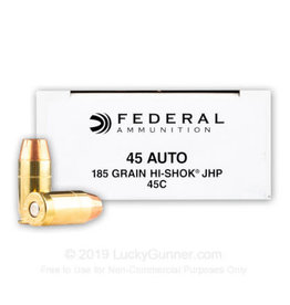 Federal 45 ACP - 185 Grain JHP - Federal Classic Personal Defense - 50 Rounds