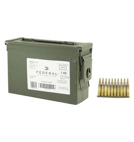 Federal Federal 5.56 NATO Ammo 420 Rounds FMJ 62 Grains On Stripper Clips In Ammo Can