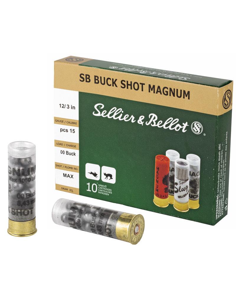 """Sellier & Bellot Sellier & Bellot Shotshell 12 Gauge 3"""" 00 Buck"""