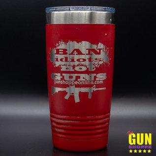 SRQ Laser Ban Idiots Not Guns Tumbler
