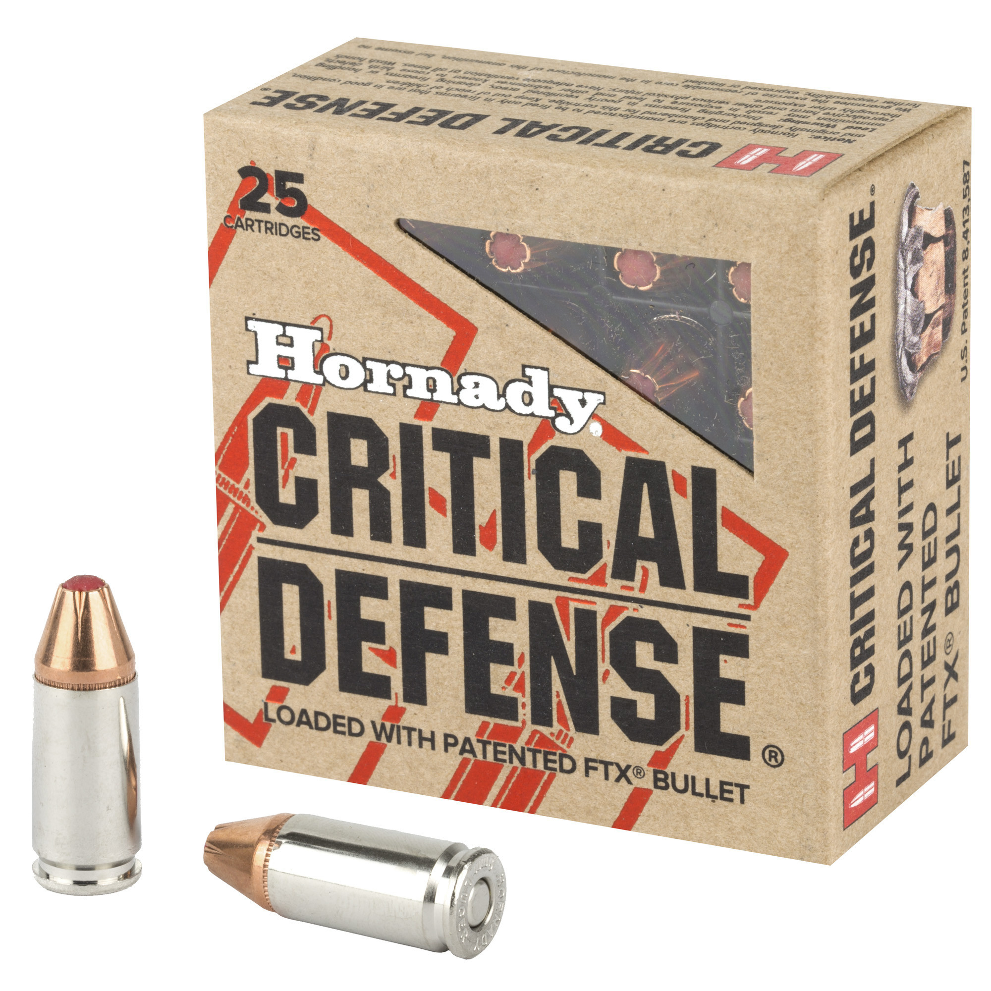 Hornady Hornady Critical Defense 9mm 115gr 25rnd FTX