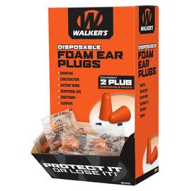 Walker's Walker's Ear Plug Foam Orange 200 Individually Packaged Pairs per Box