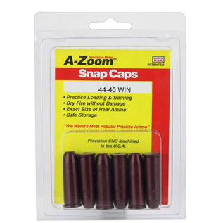 Pachmayr A-Zoom Revolver Snap Caps for 44-40 Win 6 Pack Orange