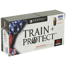 Federal Federal Train & Protect 9MM 115 Grain Hollow Point 50 Round Box