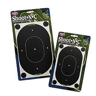 "Birchwood Casey Birchwood Casey Shoot-N-C Target 7"" Oval Silhouette 12 Pack"