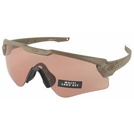 OAKLEY Oakley Ballistic M-Frame Alpha, Glasses, Terrain Tan Frame with Clear, TR22, and TR45 Lenses