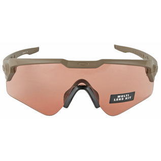 OAKLEY Oakley Standard Issue, Ballistic M-Frame Alpha, Glasses, Terrain Tan Frame with Clear, TR22, and TR45 Lenses