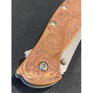 Kershaw Custom Hand Engraved Kershaw Leek