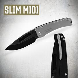 Medford Knife & Tool Medford Knife & Tool Slim Midi Slvr/Blk PVD