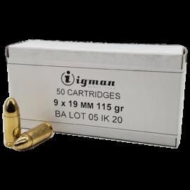 ingman Igman 9mm 115 GR FMJ 50rd Box