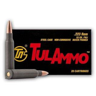 Tulammo Tula 223Rem 55GR Steel Case 20rds - ATA223550
