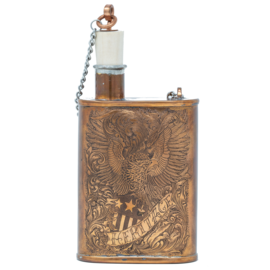 Handmade and Engraved Flask