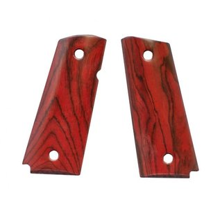Fusion Firearms Grip full size red cocobolo beveled bottom Smooth Ambi cut
