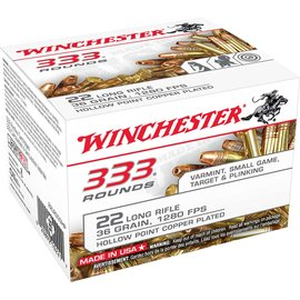 Winchester Winchester 22 LR 36 gr Copper Plated Hollow Point 333rds