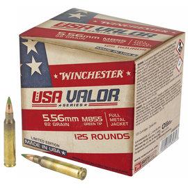Winchester Winchester Ammunition, USA Valor, 556NATO, 62Gr, Full Metal Jacket, Green Tip