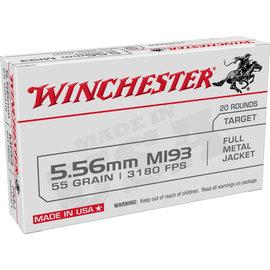 Winchester Winchester USA 5.56 NATO Ammunition 20 Rounds FMJ 55 Grains