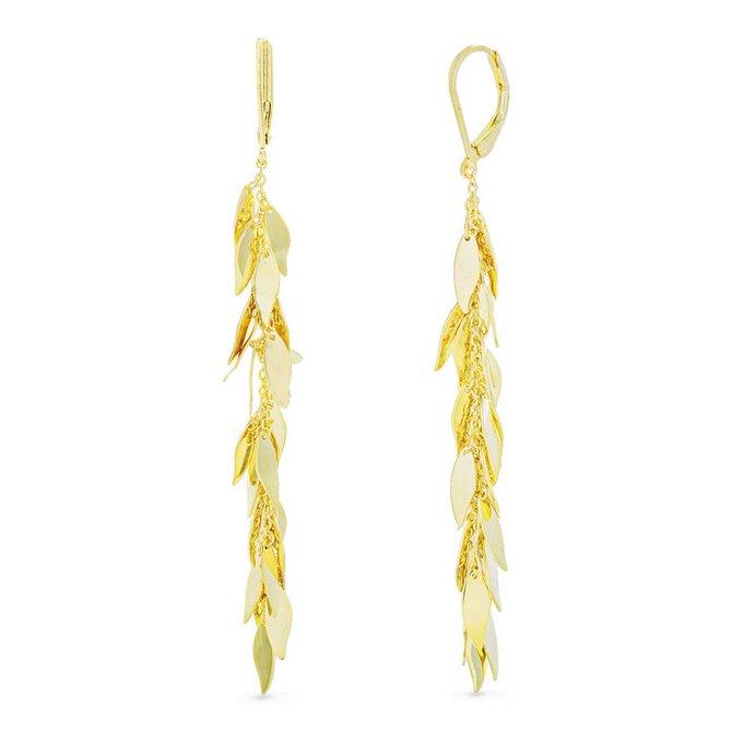 19-02116 Aretes pluma dorados