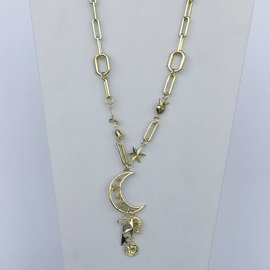 19-1212 COLLAR CADENAS AMULETOS LUNA