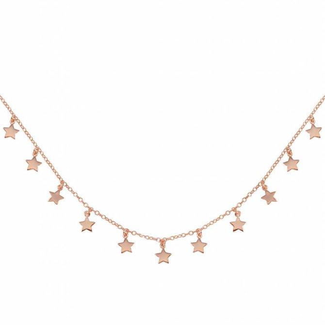 19-6237R Collar estrellitas rosegold