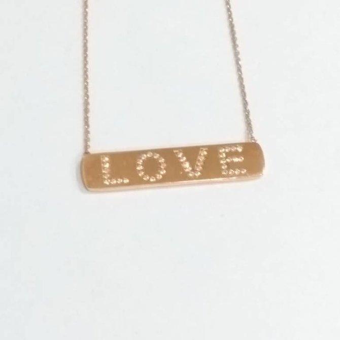 18-7313 Dije placa rose gold LOVE