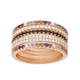 19-02140-8 SET 5 ANILLOS COLRES ROSE GOLD TALLA 8