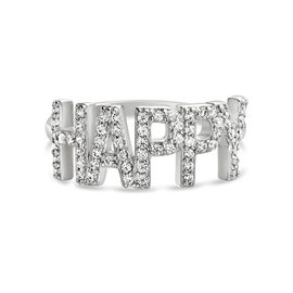 19-02168-9 ANILLO HAPPY PLATEADO T-9