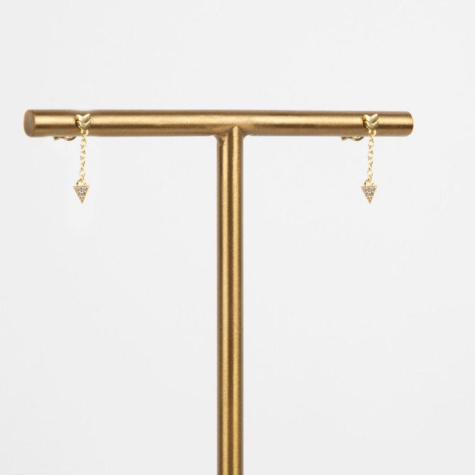 Aretes con Flecha Colgante Dorado