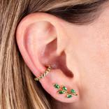 19-4996V EAR CRAWLERS HOJAS VERDES