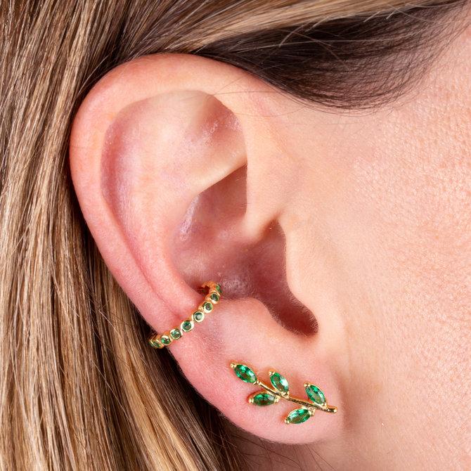 EAR CRAWLER HOJITAS VERDES