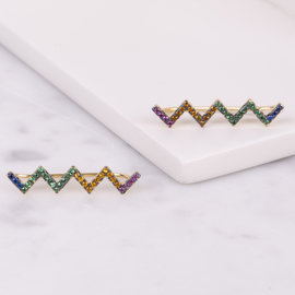 19-4986 EAR CRAWLERS ZIG ZAG COLORES