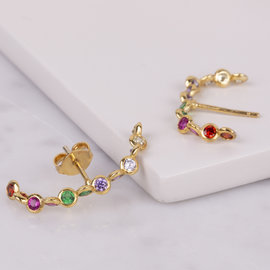 ARETES WILLOW BEZEL RAINBOW