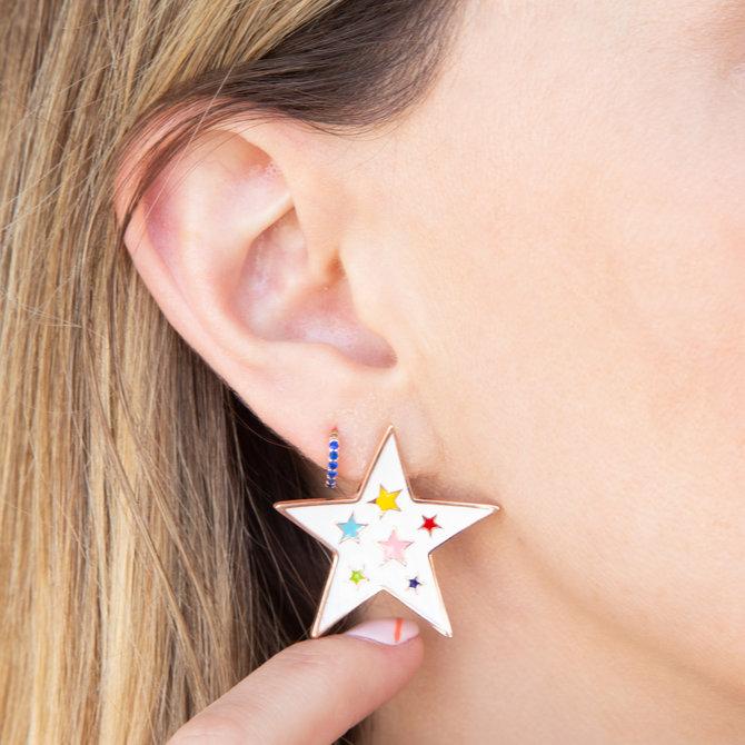 Studs Enamel Estrellas