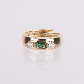 19-49125V ANILLO IMPERIAL  VERDE AJUSTABLE