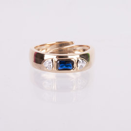 ANILLO IMPERIAL  AZUL AJUSTABLE