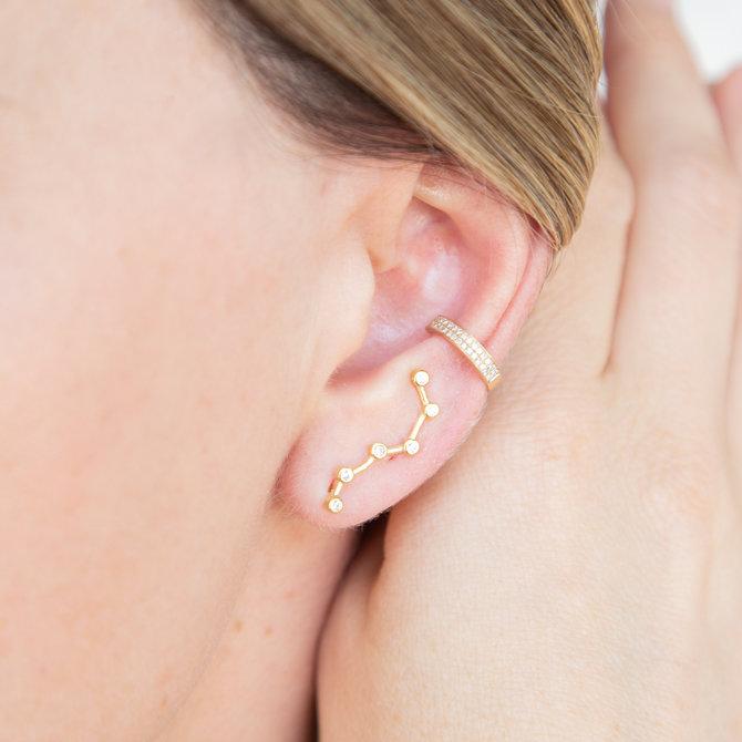 19-06296D EAR CRAWLERS CONSTELACION DORADO