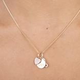 19-02271 COLLAR CHARMS LOVE  INFINITO LOVE TRICOLOR