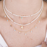 PEARLS NECKLACES WITH CROSS PENDANT