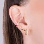 GOLDEN MOON AND STAR EARRINGS