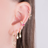 PINK BAGUETTE EAR CUFF