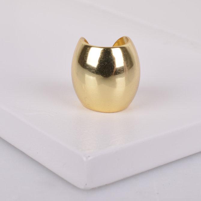 GOLDEN BARREL EAR CUFF