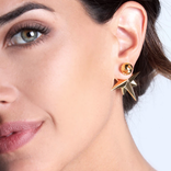 19-8409G COMPASS EARRINGS 24K GOLD PLATED