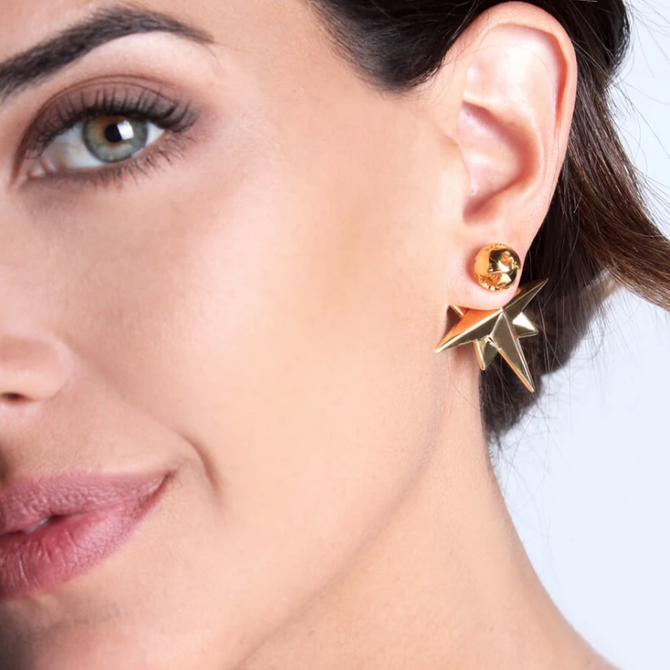 COMPASS EARRINGS 24K GOLD PLATED