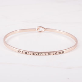 19-7177 PULSERA SHE BELIEVED SHE COULD ROSE GOLD