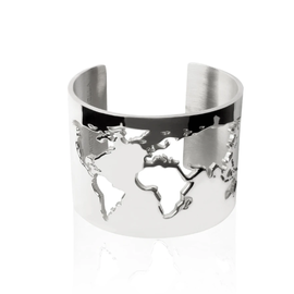 19-8403CP WORLD CUFF RHODIUM PLATED